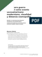 """Mariano Siskind, """"La primera guerra mundial como evento latinoamericano"""