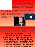Conferencia de Bill Gates