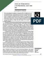 Chechnya and Afghanistan - NYT v Izvestiat - Journalism & Mass Communication Quarterly (2000)