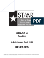 STAAR GRADE 4 2014 Test Reading