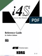 Korg i4s Reference Guide