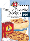 Family Favorite Recipes Cookbook with Sun-Maid® Raisins & Dried Fruit