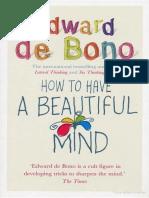 Edward de Bono-How to Have a Beautiful Mind-Ebury Press (2004)