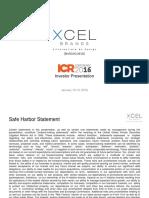XELB Jan 2016 Investor Presentation