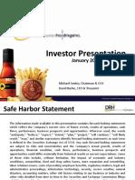 BAGR Jan 2016 Investor Presentation
