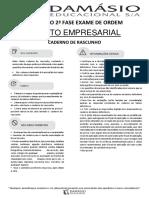 XVIII Exame de Ordem - Simulado- 2ª Fase - Direito Empresarial