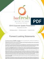 BRFH Nov 2015 Investor Presentation