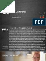 SYY Sysco Jan 2016 Investor Presentation