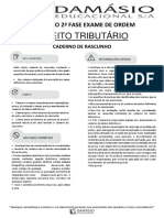 XVIII Exame de Ordem - Simulado - 2ª Fase - Direito Tributário