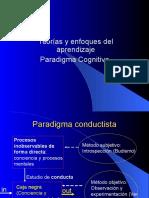Teorias y Enfoques Del Aprendizaje Paradigma Cognitivo 1