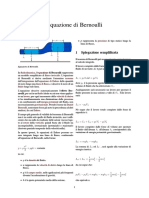 Equazione Di Bernoulli