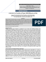 Impact of Paper Mill Effluent on Fish