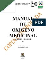 RAAF012 Manual de Oxigeno Medicinal - V3