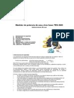 Manual TES 3600