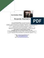 Currículum Vitae Ricardo Romero Junio 2015
