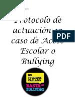 Protocolo en Caso de Acoso Escolar o Bullying