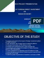 Research Report on FDI