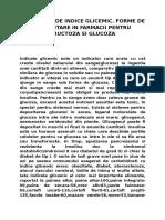 Conceptul de Indice Glicemic
