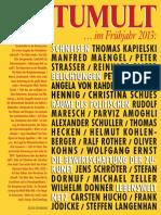 TUMULT (Fruehjahr 2013) - Zeitschrift