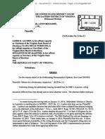 Order Denying Preliminary Injunction