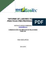 Informe de Labores Para Las Prã-cticas Natalie Aveiga