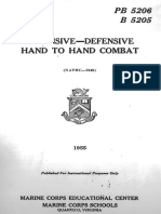 Offencive-Defensive Hand to Hand Combat - United States Marine Corps 1955