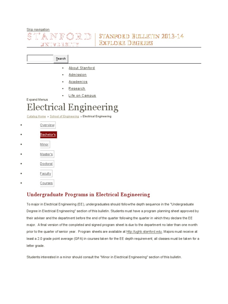 Stanford All Courses | Signal (Electrical Engineering) | Electrical