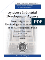 Audit of Syracuse Industrial Development Agency