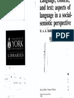 Language Context & Text
