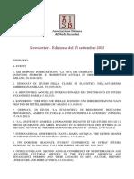 Aisb Newsletter Settembre 2013