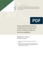 Áreas prioritarias para la conservación de las aves en las cuencas altas de tres ríos andinos