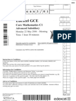 GCE Core Mathematics C1 MAY 2006
