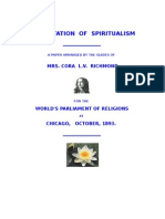 Presentation of Spiritualism - Cora Richmond