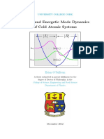 Spatial and Energetic Mode Dynamics of Cold Atomic Systems - PhD Thesis (2012)