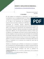 DESABASTECIMIENTO E INFLACIÓN EN VENEZUELA.