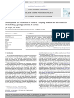 Development and Validation of on-farm Sampling Methods for the Collection