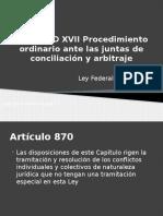 CAPITULO XVII Procedimiento Ordinario Ante Las Juntas de (1)