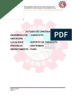 Informe de Obras Viales Granulometria Limites de Consistencia y Compactacion