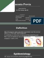 Topic List Placenta Previa(1)