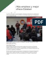 05.01.16 Más empleos y mejor pagados ofrece Esteban Villegas.docx