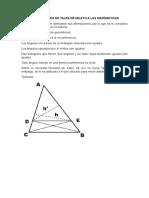 Aportaciones de Tales de Mileto a Las Matematicas
