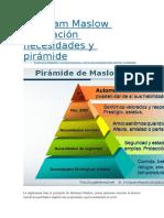 Abraham Maslow Motivación Necesidades y Pirámide