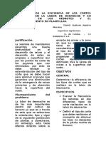 Evaluacion de La Labor de Desmache y Su Efecto Con El Embalconamiento en La Plantilla Del Lote 26