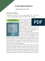 FUENTES, Juan Francisco. El Fin Del Antiguo Régimen 1808 – 1868 (Reseña)