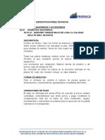 ESPECIFICACIONES TECNICAS SANITARIOS