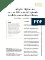 Tecnologias Digitais Na Veja - A Construção de Um Futuro Despotencializado
