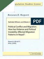Migration Nepal Conflict William