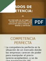 Mercados de Competencia