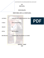 Monografía La Historia de La Gimnasia