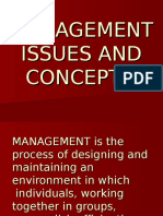 A MANAGEMENT Issues & Concepts Feb 15